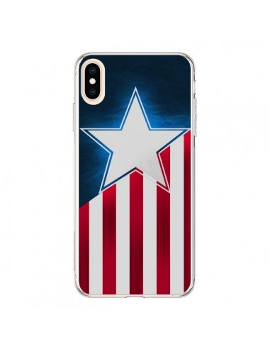 Coque iPhone XS Max Captain America - Eleaxart