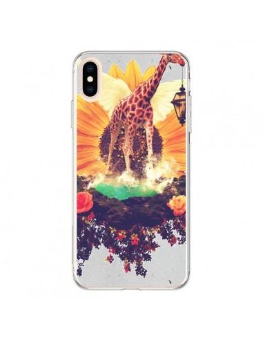 Coque iPhone XS Max Girafflower Girafe - Eleaxart