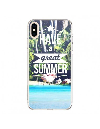 Coque iPhone XS Max Have a Great Summer Eté - Eleaxart
