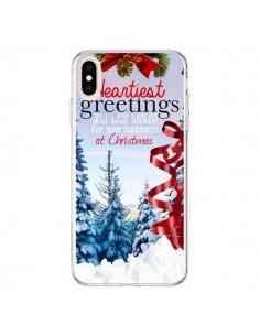 Coque iPhone XS Max Voeux Joyeux Noël - Eleaxart