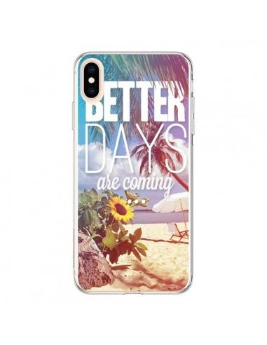 Coque iPhone XS Max Better Days été - Eleaxart