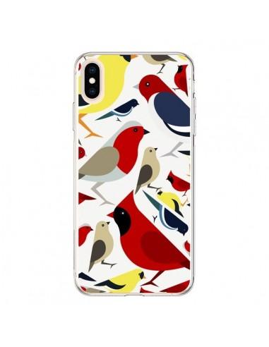 Coque iPhone XS Max Oiseaux Birds -...
