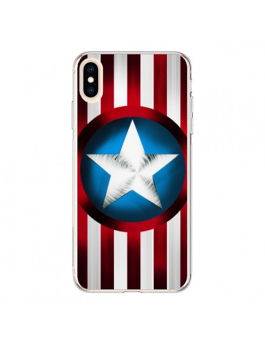 Coque iPhone XS Max Captain America Great Defender - Eleaxart