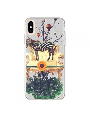 Coque iPhone XS Max Zebre The World - Eleaxart