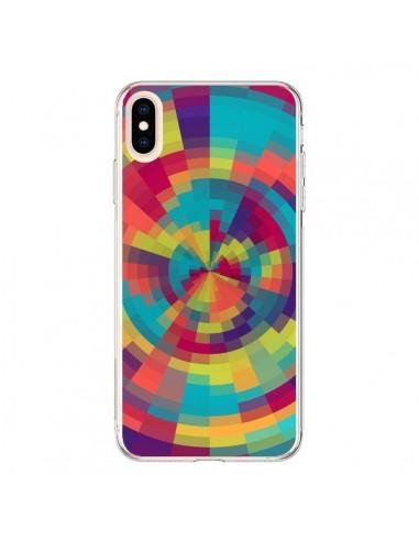Coque iPhone XS Max Spirale de Couleurs Rouge Vert - Eleaxart
