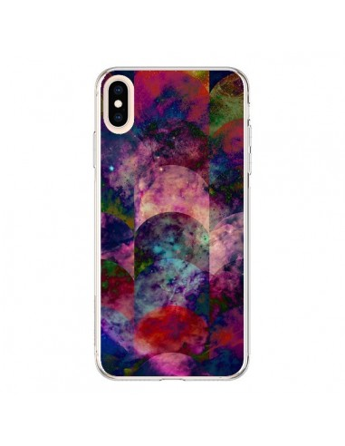 Coque iPhone XS Max Abstract Galaxy Azteque - Eleaxart