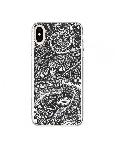 Coque iPhone XS Max Azteque Noir et Blanc - Eleaxart