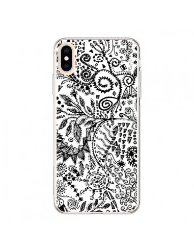 Coque iPhone XS Max Azteque Blanc et Noir - Eleaxart