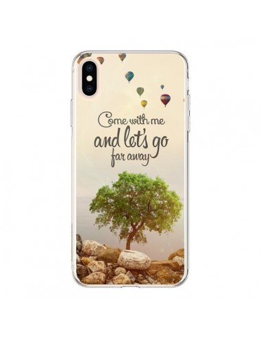Coque iPhone XS Max Let's Go Far Away Ballons - Eleaxart