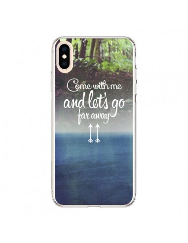 Coque iPhone XS Max Let's Go Far Away Forest Foret - Eleaxart