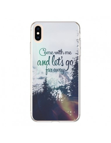 Coque iPhone XS Max Let's Go Far Away Snow Neige - Eleaxart
