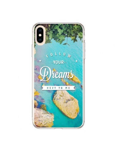 Coque iPhone XS Max Follow your dreams Suis tes rêves Islands - Eleaxart