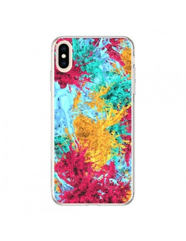 Coque iPhone XS Max Splashes Peintures - Eleaxart