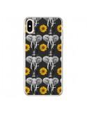 Coque iPhone XS Max Elephant Tournesol - Eleaxart