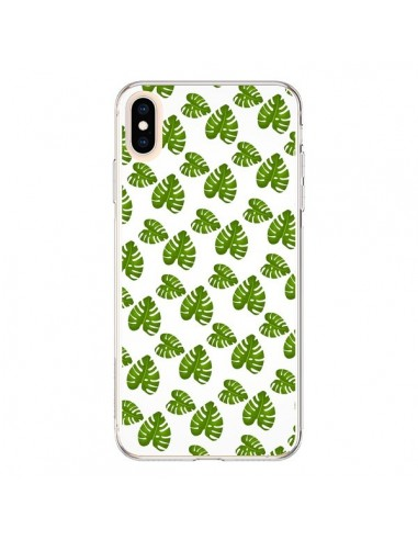 Coque iPhone XS Max Plantes vertes -...