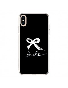 Coque iPhone XS Max Be Chic Noeud Papillon Blanc - Léa Clément