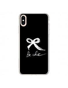 Coque iPhone XS Max Be Chic Noeud Papillon Blanc - Léa Clément