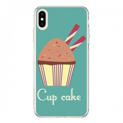 Coque iPhone XS Max Cupcake Chocolat - Léa Clément
