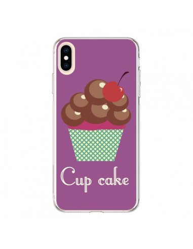 Coque iPhone XS Max Cupcake Cerise Chocolat - Léa Clément
