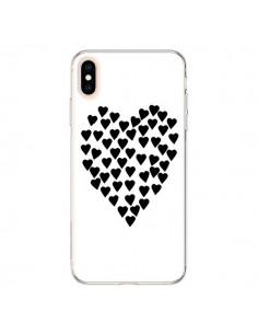 Coque iPhone XS Max Coeur en coeurs noirs - Project M