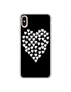 Coque iPhone XS Max Coeur en coeurs blancs - Project M