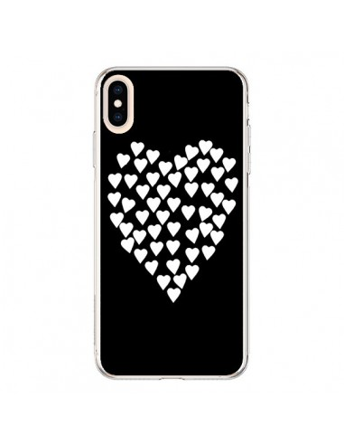 Coque iPhone XS Max Coeur en coeurs blancs - Project M