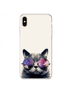 Coque iPhone XS Max Chat à lunettes - Gusto NYC