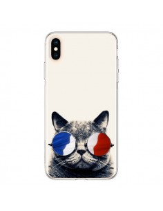 Coque iPhone XS Max Chat à lunettes françaises - Gusto NYC