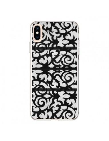 Coque iPhone XS Max Abstrait Noir et Blanc - Irene Sneddon