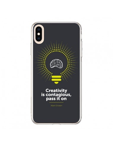 Coque iPhone XS Max Creativity is contagious, Einstein - Shop Gasoline