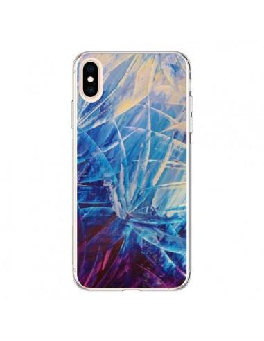 Coque iPhone XS Max Fleurs Violettes...