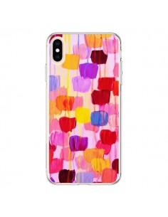 Coque iPhone XS Max Pois Roses Dottie - Ebi Emporium