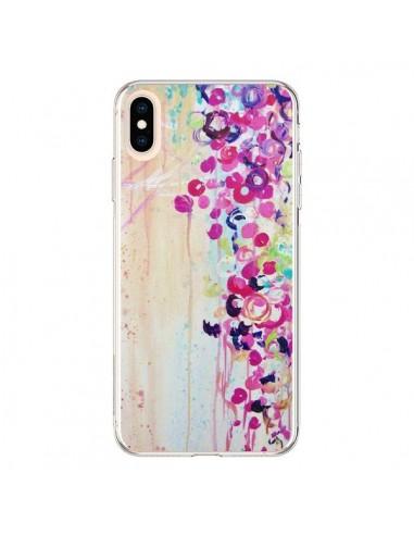 Coque iPhone XS Max Fleurs Dance of Sakura - Ebi Emporium
