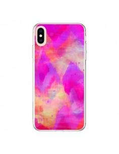 Coque iPhone XS Max Coeur Tribal Rose - Ebi Emporium
