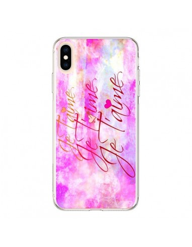 Coque iPhone XS Max Je t'aime I Love You - Ebi Emporium