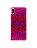 Coque iPhone XS Max Tribal Leopard Rouge - Ebi Emporium