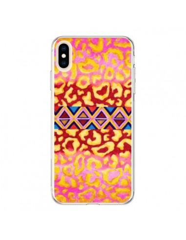 Coque iPhone XS Max Tribal Leopard Rose - Ebi Emporium