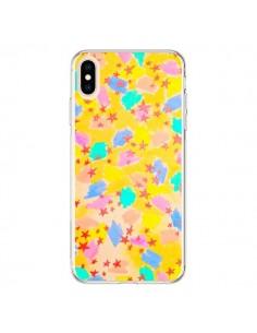 Coque iPhone XS Max Stars Etoiles Jaunes - Ebi Emporium