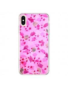 Coque iPhone XS Max Stars Etoiles Roses - Ebi Emporium