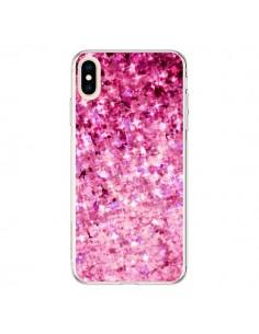 Coque iPhone XS Max Romance Me Paillettes Roses - Ebi Emporium