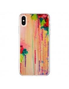 Coque iPhone XS Max Strawberry Confetti Flowers - Ebi Emporium