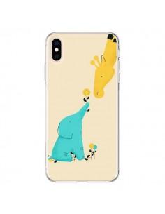 Coque iPhone XS Max Elephant Bebe Girafe - Jay Fleck