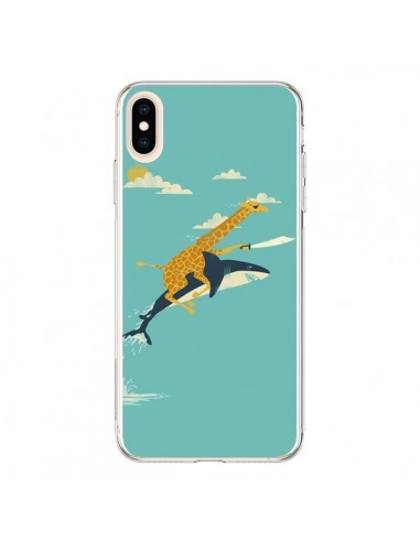 Coque iPhone XS Max Girafe Epee Requin Volant - Jay Fleck