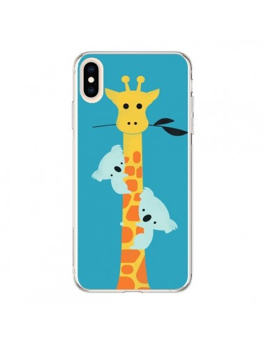 Coque iPhone XS Max Koala Girafe Arbre - Jay Fleck