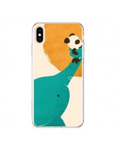 Coque iPhone XS Max Elephant Help Panda - Jay Fleck