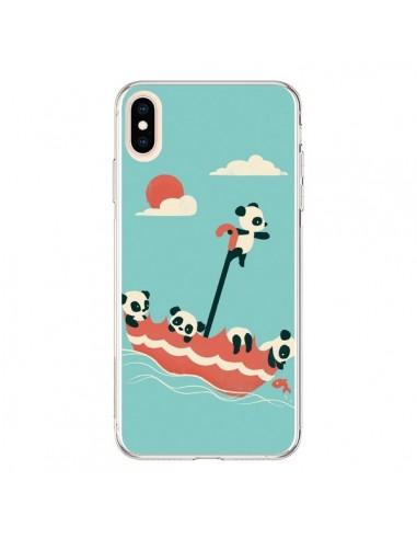 Coque iPhone XS Max Parapluie Flottant Panda - Jay Fleck