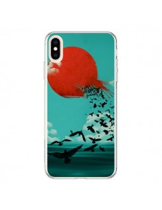 Coque iPhone XS Max Soleil Oiseaux Mer - Jay Fleck