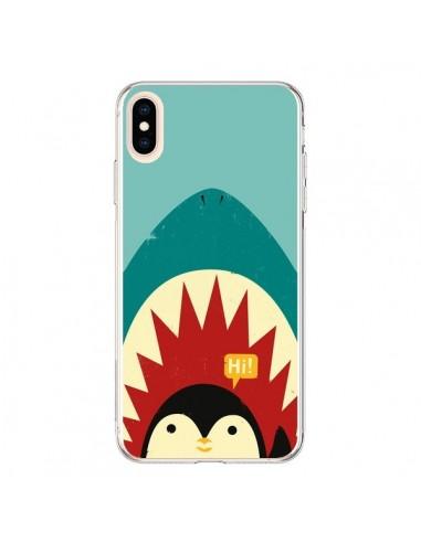 Coque iPhone XS Max Pingouin Requin - Jay Fleck