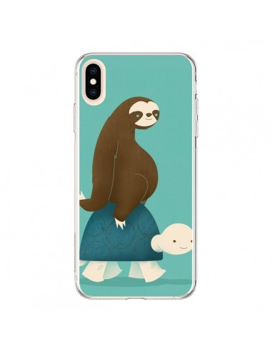 Coque iPhone XS Max Tortue Taxi Singe Slow Ride - Jay Fleck