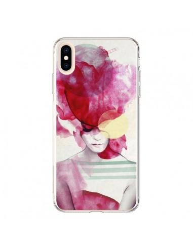 Coque iPhone XS Max Bright Pink Portrait Femme - Jenny Liz Rome